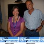 Gianmaria Scapin UNV e Daniela Zampini, Chief Technical Adviser ILO – Ginevra,