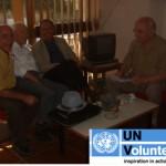 Gianmaria Scapin con Luan Shahu e i collaboratori di Alboen - Tirana