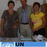 Gianmaria Scapin Consulente Economico United Nations V. e due Manager dell'Incubatore Statale di Tirana.